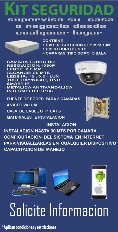 Combo Completo cámaras de seguridad